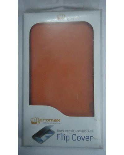 Micromax Canvas 3 HD A116 Designer Flip Case Cover Orange