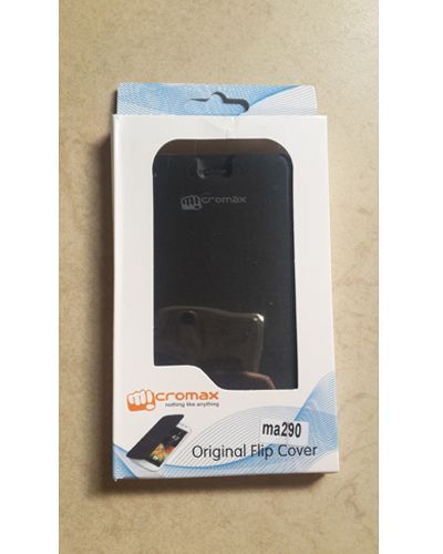 Micromax Canvas Knight Cameo A290 Designer Flip Case Cover Black