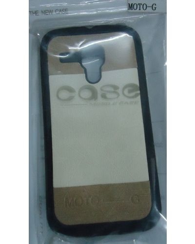 Motorola Moto G Designer Back Cover Light Brown With Cream Colour