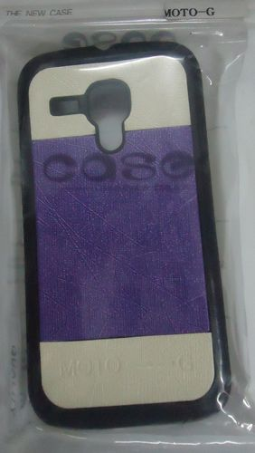 Motorola Moto G Designer Back Cover Purple With Cream Colour