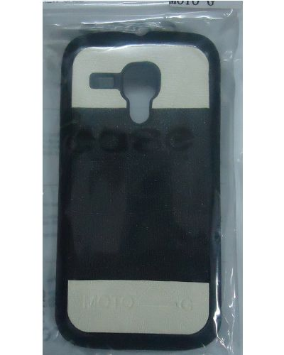 Motorola Moto G Designer Back Cover Black With Cream Colour