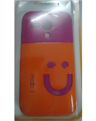 Motorola Moto G Smiley Back Cover Orange With Pink