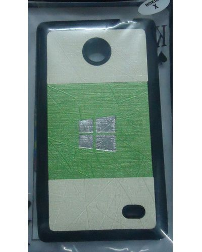 Nokia X Stylish Back Cover Cases Light Green With Cream Colour