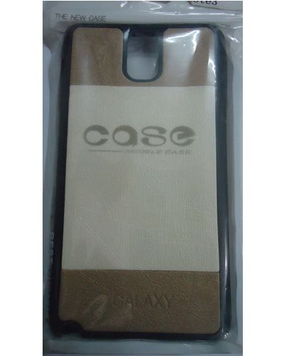 Samsung Galaxy Note 3 Back Cover Case Brown With Cream Colour