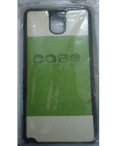 Samsung Galaxy Note 3 Back Cover Case Light Green With Cream Colour