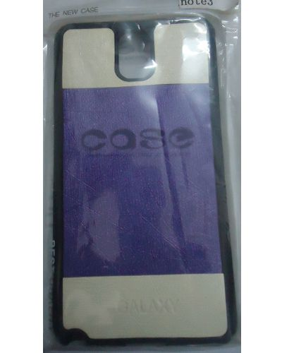 Samsung Galaxy Note 3 Back Cover Case Purple With Cream Colour
