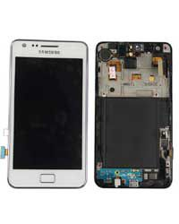 Samsung S2 i9100 LCD Display with Touch Screen Glass White