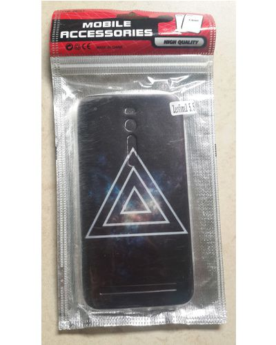 Asus Zenfone 2 Laser 5.5 Three Triangle Back Case Cover Black